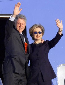 Nothing about the Clintons being a grave threat.